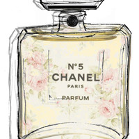 Chanel No5 Illustrated  Art Print by Amy frances Illustration