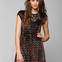 Ecote Fortune Teller Velvet & Lace Mix Dress - Urban Outfitters