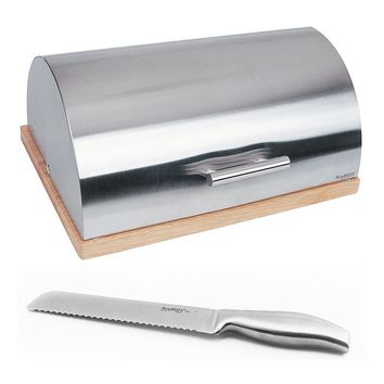 BergHOFF Cubo 2-pc. Bread Bin & Knife Set