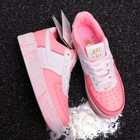 hcxx N294 Nike Air Force 1 Upsep AF1 Low Casual Running Shoes Pink White