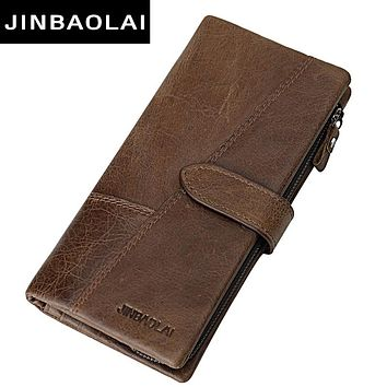 New Men Wallets Fashion Wallet Men Purse Clutch Bag Brand Leather Wallet Long Design Bag Gift For Men Carter Brown Wallet Men