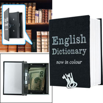 Mini Dictionary Diversion Book Safe w- Key Lock - Metal