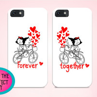 Set of cases for couples, Iphone cases for couple, couple gift, anniversary gift, gift for boyfriend, iphone 6 case, love iphone case