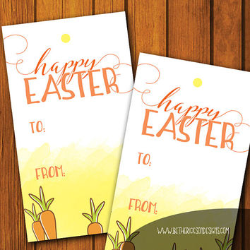 Easter Labels / Easter Gift Tag / Happy Easter / Easter Gift Tags / Instant download / Easter Bunny / Happy Easter