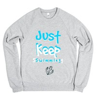 Just Keep Swimming-Unisex Heather Grey Sweatshirt