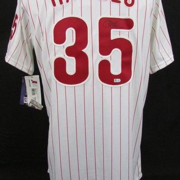 CREYONY Cole Hamels Signed Autographed Philadelphia Phillies Baseball Jersey (MLB Authenticated)