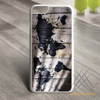World Map on Wood Texture Custom case for iPhone, iPod and iPad