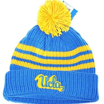 "UCLA Bruins ""3-Stripe Knit"" Pom Beanie"