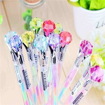 Creative Stationery Candy Diamond Style Gel Pen 6 colors in One Pen 0.8mm