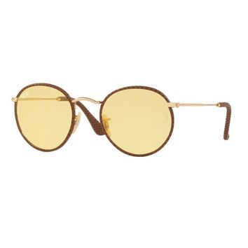 RAY BAN RB 3475Q 90424A ROUND CRAFT AMBERMATIC SUNGLASSES SUNGLASSES