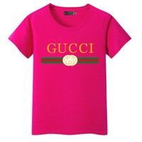 GUCCI Fashion Short Sleeve For Women (The size runs smaller a little) ten color Tagre™
