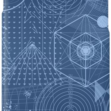 'Geometry Symbol Science Blue' iPhone Case/Skin by SpiceTree