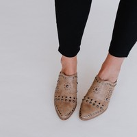 Kat Jeweled Mule Slide - Brown