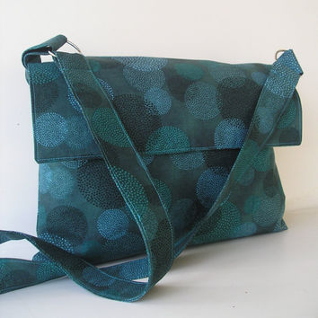Messenger Bag in Teal by jazzygeminis on Etsy