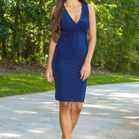 Less Is More Dress-Navy