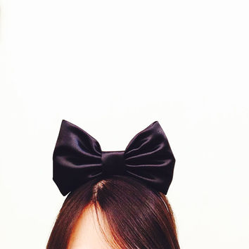 Alice in Wonderland Black Bow Headband