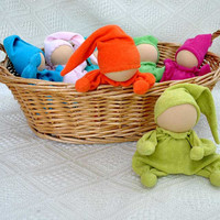 Teething waldorf  doll for baby girl and boy  from by LaFiabaRussa