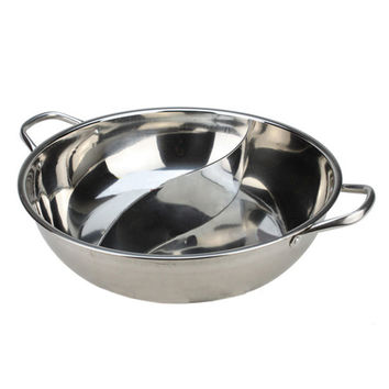 Thick Stainless Steel Duck Hot Pot Induction Cooker Usable   28CM