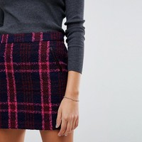Oasis Checked Mini Skirt at asos.com