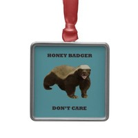 Blue Curacao Honey Badger Dont Care Ornament from Zazzle.com