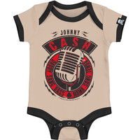 Johnny Cash Boys' Bodysuit Cream