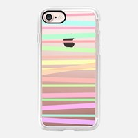 Pastel Rainbow Stripes II - Transparent/Clear background iPhone 7 Case by Lisa Argyropoulos | Casetify