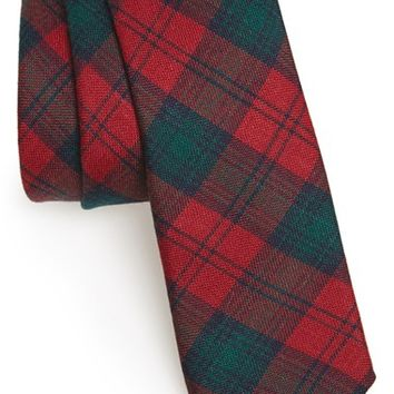 Men's Todd Snyder White Label 'Lindsay' Plaid Wool Tie, Size Regular - Burgundy