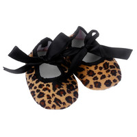 Leopard Print Bowknot Baby Clothing