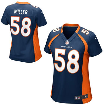 Von Miller Denver Broncos Nike Women's Game Jersey – Navy Blue