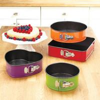 Colorful 4-Pc. Springform Bakeware Set