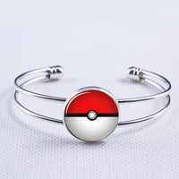 Bracelet, Pokemon Pokeball  Bangle braclet,silvery  bracelet,Weeding gift,Mother gift,charm bracelet