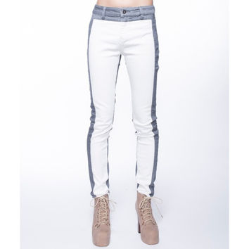 Contrast Block Denim Jeans