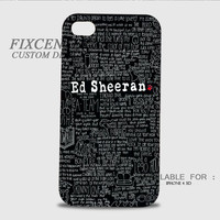 Ed Sheeran 3D Cases for iPhone 4,4S, iPhone 5,5S, iPhone 5C, iPhone 6, iPhone 6 Plus, iPod 4, iPod 5, Samsung Galaxy Note 4, Galaxy S3, Galaxy S4, Galaxy S5, BlackBerry Z10 phone case design