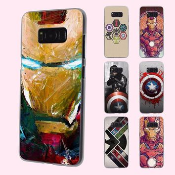 the avengers ironman captain america design transparent phone shell Case for Samsung Galaxy Note 7 5 S6 S7edge S8 Plus S5 S4 min