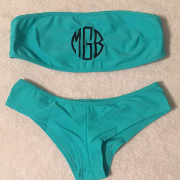 Monogrammed Bathing Suit with matching bottoms