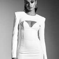 Linda White Cut Out Party Dress
