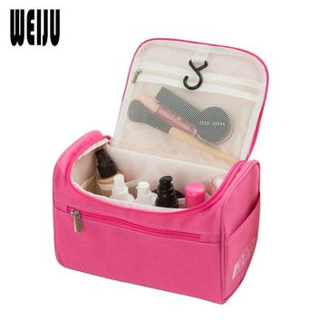 WEIJU Women Travel Makeup Bag Multifunction Cosmetic Bags 2016 New Fashion Waterproof Storage Toiletry Bag Organizer Men