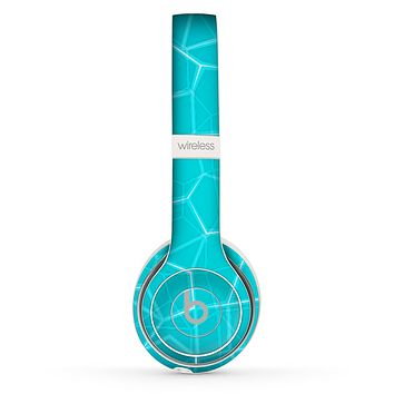 The Blue Translucent Outlined Pentagons Skin Set for the Beats by Dre Solo 2 Wireless Headphones