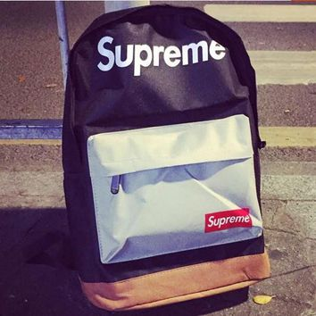 street fashion supreme Backpack College School Bag Travel Bag