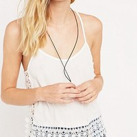 Pins & Needles Crochet Side Cami Top in Ivory - Urban Outfitters