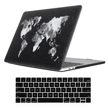 """Macbook New Pro 13"""" 2017&2016 Release Rubberized Hard shell Case+Keyboard Cover For MacBook Pro 13 A1706/A1708 W/Without Touch Bar (Macbook New Pro 13"""" With/Without Touch Bar, Nebula Map) (V20180101)"""
