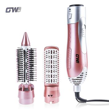 GW 220-240V Electric Hair Curling Irons 1200W Styler Hair Blow Dryer Machine Brush Comb Straightener Curler Styling Tool