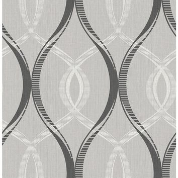 Brewster Echo Black Lattice Wallpaper-2662-001918 - The Home Depot