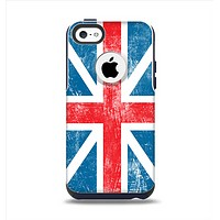 The Scratched Surface London England Flag Apple iPhone 5c Otterbox Commuter Case Skin Set