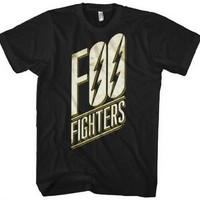 Foo Fighters T-shirt - Foo Fighters Logo. Men's Black Shirt
