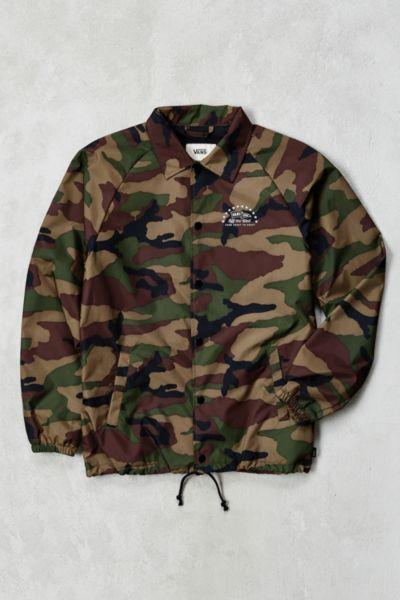 c036600432a4 Vans Torrey Camo Coaches Jacket from Urban Outfitters