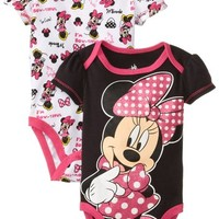 Disney Baby-Girls Newborn Disney's Minnie Mouse 2 Pack Bodysuit