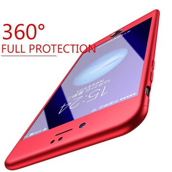 Moopok 360 Degree Full Cover Phone Case For Apple iPhone 7 8 6 6s Plus Protective Cases For iPhone 6 S 6s 7 8 Plus Phone Cover