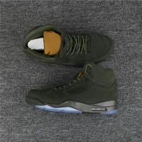 "Air Jordan 5 PRM ""Take Flight"" Army Green 881432-305 Size US 8--13"