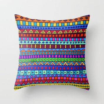 Happy Camper Throw Pillow by Erin Jordan | Society6